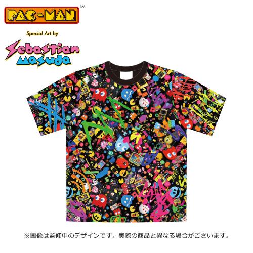 PAC-MAN Special Art by Sebastian Masuda 公式総柄Tシャツ