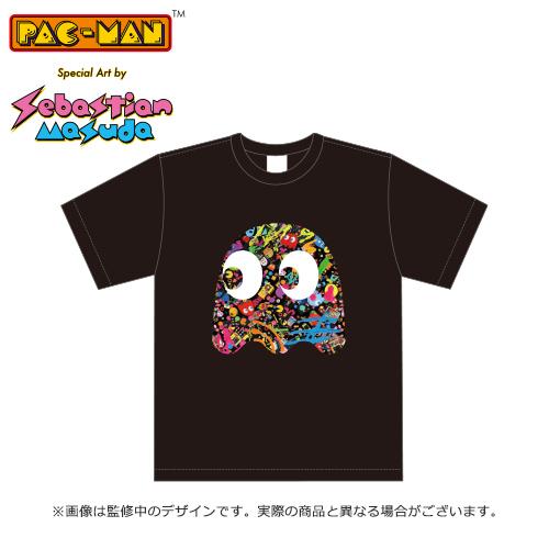 PAC-MAN Special Art by Sebastian Masuda 公式Tシャツ (ブラック)