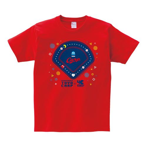 カープ×パックマンコラボ Tシャツ(ポップ)